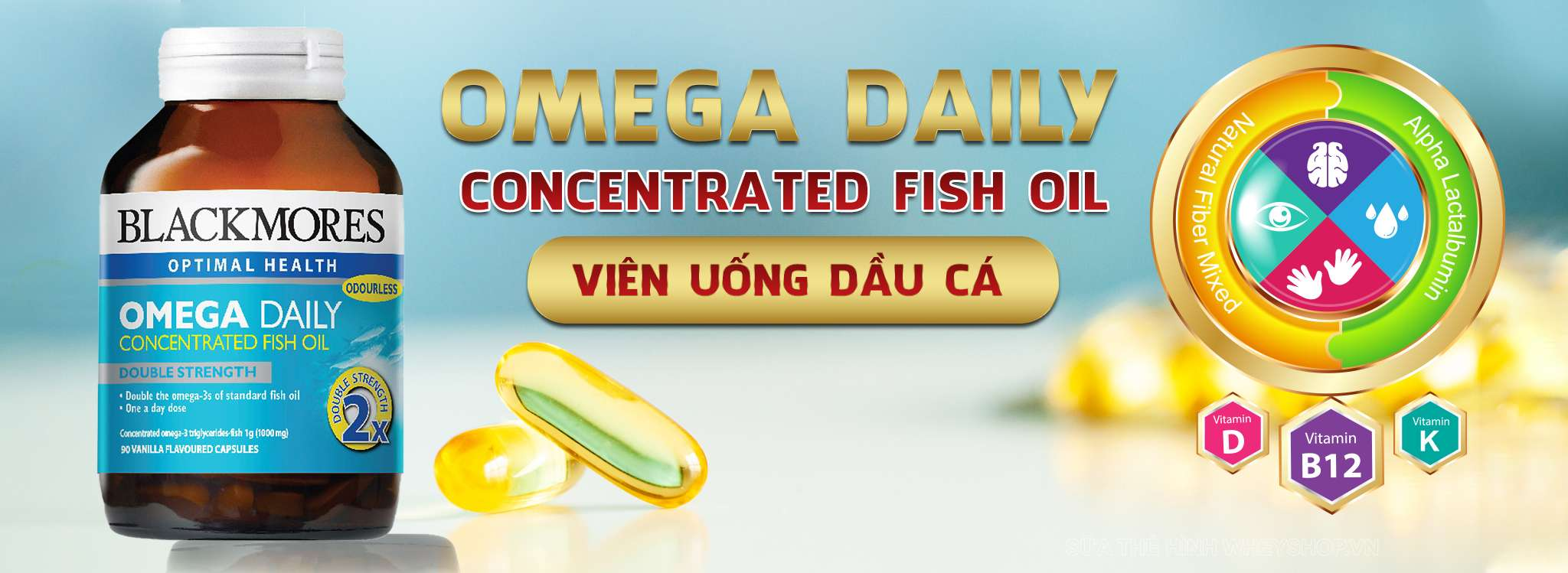 Blackmores Omega-3 Daily Concentrated Fish Oil gai re ha noi tphcm